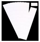 Einsteckkarten für Planrecord weiß 70x32mm 90 Stück