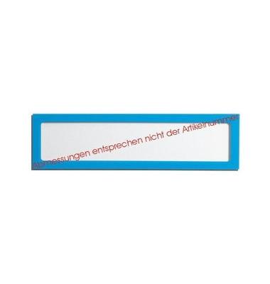 Infotasche für Überschriften blau 225 x 60mm
