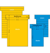 T-Karten 542152 Größe 2 rotorange 44x70mm 170g liniert 100 Stück