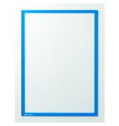 Infotaschen magnetisch für A4 blauer Rahmen 25 Stück