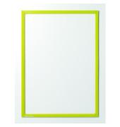 Infotaschen magnetisch für A4 gelber Rahmen 5 Stück