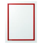 Infotaschen magnetisch für A4 roter Rahmen 5 Stück