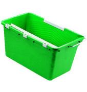 Fensterreinigungseimer 18 Liter grün rechteckig mit Ausgießer/Sieb/Einhängebügel