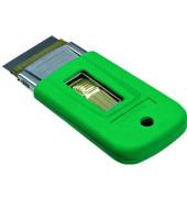 Fensterschaber ErgoTec 4 cm breit mit Sicherung grün