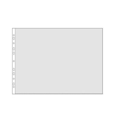 Prospekthüllen 4334 A3-quer glasklar glatt 80my oben offen