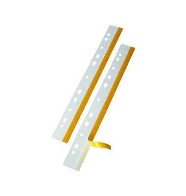 Heftstreifen lang Heftfix Folie selbstklebend transparent 10 Stück