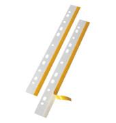 Abheftstreifen Heftfix 2001 100, 25x292mm, selbstklebend, Kunststoff, transparent, 50 Stück