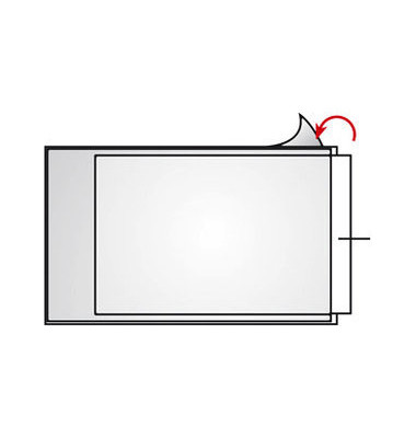 22021 Beschriftungsfenster 40x64mm  transparent Folie 100 Stück