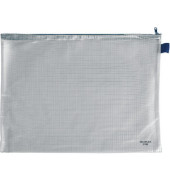 Reißverschlußtasche Mesh Bag PVC A3 435x323mm farblos/blau