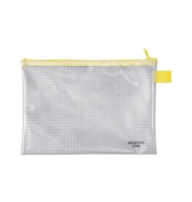 Reißverschlußtasche Mesh Bag PVC A5 250x180mm farblos/gelb