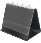Tisch-Flipchart A3-quer 4-Ringe schwarz 10 Hüllen