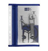 Reißverschlußtasche Velobag PP A5 110x205mm farblos/blau