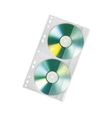 CD/DVD Doppelhülle f. Mappe A4 100 St
