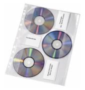 CD/DVD Hüllen PVC für 3 CD-Rom für A4 10 Stück