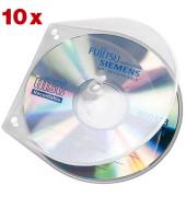 CD/DVD-Hülle Velobox für 1 CD transparent 125x125x4mm mit Abheftlochung 10 Stück