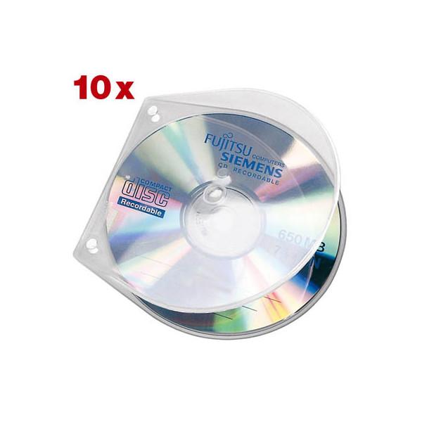 veloflex cd dvd h lle velobox f r 1 cd transparent 125x125x4mm mit abheftlochung 10 st ck. Black Bedroom Furniture Sets. Home Design Ideas