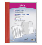 Schnellhefter Veloform 4741 A4+ überbreit rot PVC Kunststoff kaufmännische Heftung bis 100 Blatt