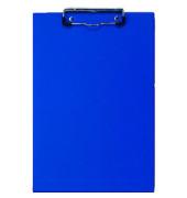 Klemmbrett A4 blau Klemme kurze Seite Pappkern mit PVC umhüllt