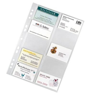 Visitenkartenhüllen PP-Folie glasklar f.20 Karten 10 St