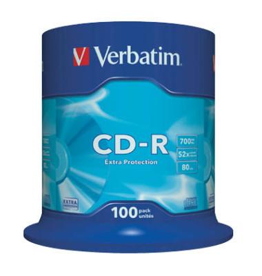 CD-R 52x Spindel 700MB/0min 100 Stück