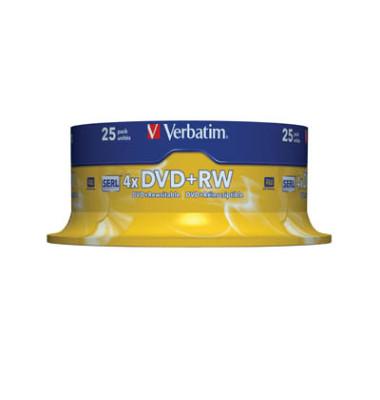 DVD+RW 4x Spindel wiederbesch.4,7GB 25 Stück