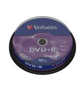 DVD+R 16x Spindel 4,7GB 10 Stück