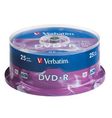 DVD+R 16x Spindel 4,7GB 25 Stück