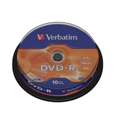 DVD-R 16x Spindel 4,7GB 10 Stück