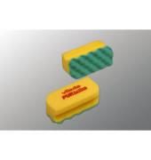 Reinigungsschwamm PURactive mit Scheuervlies waschbar gelb 10 Stück