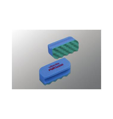 Reinigungsschwamm PURactive mit Scheuervlies waschbar blau 10 Stück