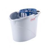 Supermop Eimer 10 Liter grau mit Wringer/Ausgießer/Tragebügel