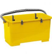 Profi Fensterreinigungseimer 22 Liter gelb rechteckig mit Kunststoffbügel/4 Haken
