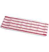 Moppbezug SPRINT Brush 40 x 14 cm Microfaser rot/weiß