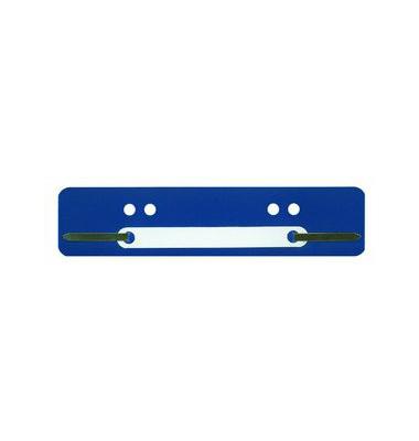 Heftstreifen kurz PP blau 34x150mm