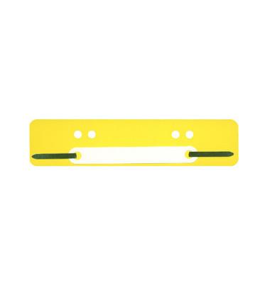 Heftstreifen kurz PP gelb 34x150mm