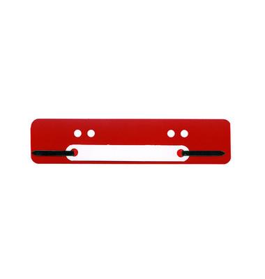 Heftstreifen kurz PP rot 34x150mm