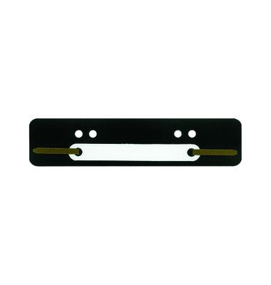 Heftstreifen kurz PP schwarz 34x150mm