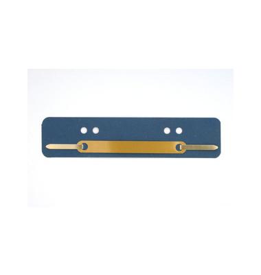 Heftstreifen kurz 401-200 0413, 34x150mm, RC-Karton mit Metalldeckleiste, blau, 25 Stück