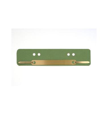 Heftstreifen kurz 401-200 0113, 34x150mm, RC-Karton mit Metalldeckleiste, grün, 25 Stück