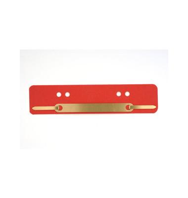 Heftstreifen kurz 401-200 0313, 34x150mm, RC-Karton mit Metalldeckleiste, rot, 25 Stück