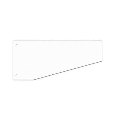 Trennstreifen 50500 Trapez weiß 190g gelocht 240x105mm 100 Blatt
