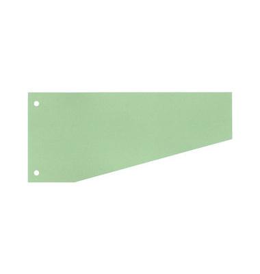 Trennstreifen 50501 Trapez grün 190g gelocht 240x105mm 100 Blatt