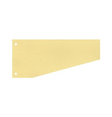 Trennstreifen 50502 Trapez gelb 190g gelocht 240x105mm 100 Blatt