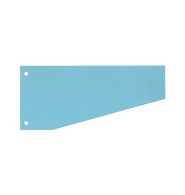 Trennstreifen 50504 Trapez blau 190g gelocht 240 x105mm 100 Blatt