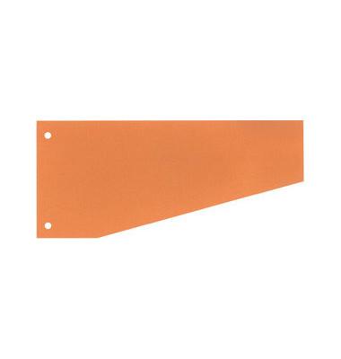 Trennstreifen 50506 Trapez orange 190g gelocht 240x105mm 100 Blatt