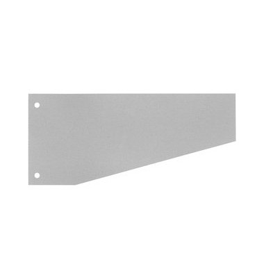 Trennstreifen 50509 Trapez grau 190g gelocht 240x105mm 100 Blatt