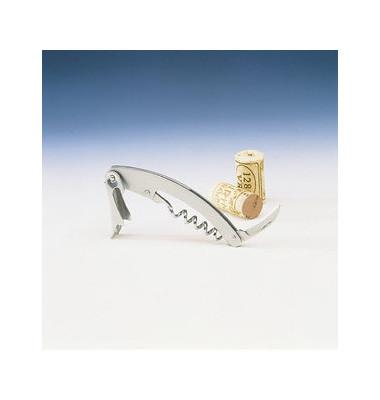 Kellnermesser mit Spiralgewinde 11cm aus Edelstahl