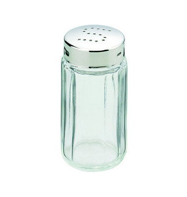 Salzstreuer Glas Kappe pol. H: 70mm