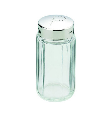 Pfefferstreuer Glas Kappe pol. H: 70mm