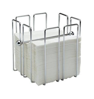 Serviettenständer 11765 Metall verchromt für 150 Servietten à 33 x 33 cm